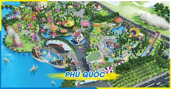 Vé tham quan khu giải trí Vinpearl land Phú Quốc